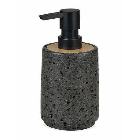 Фото - Диспенсер для жидкого мыла Black Stone and Wood, 7.6х16.3 см BA16124 Andrea House wood and stone about