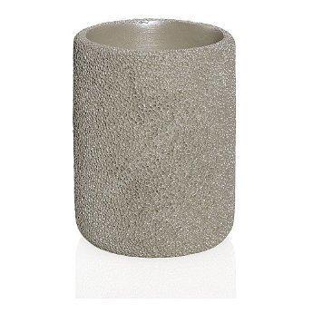 Стакан для зубных щеток Beig Coral, 8х10 см BA17103 Andrea House стакан для ванной primanova lenox белый 8х10 5 см