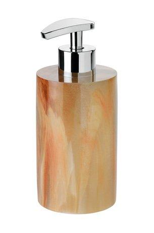Диспенсер для жидкого мыла Orange Marble and Chrome, 7х16.5 см BA17124 Andrea House