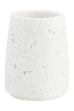 Стакан для зубных щеток White Cement and Wood, 8.5х10.5 см