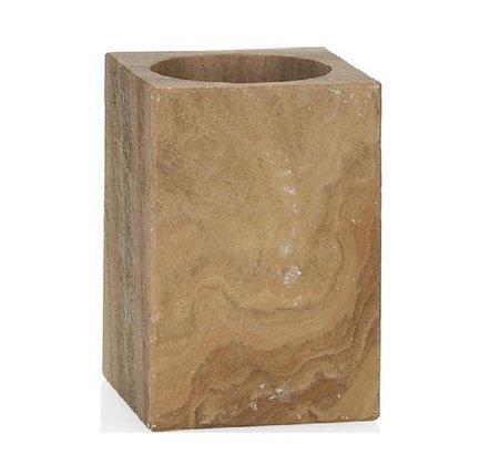 Стакан для зубных щеток Marble Vint, 6.5х6.5х10 см BA67093 Andrea House