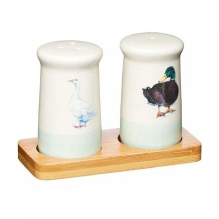 Набор солонка и перечница, 12х5.5х8.5 см AFSNP Kitchen Craft набор солонка перечница 2 шт 90 мл