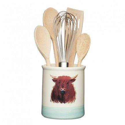 Фото - Емкость для хранения кухонных принадлежностей Apple Farm, 12.5х14.5 см AFUTENSIL Kitchen Craft емкость для хранения modern kitchen средняя золотистая
