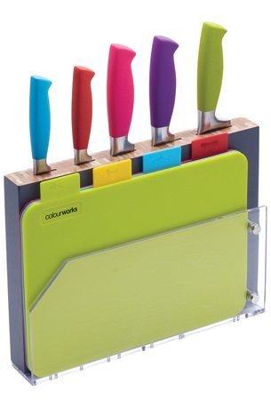 Набор ножей с разделочными досками Colourworks, 29.5х21.5х4 см, 10 пр.
