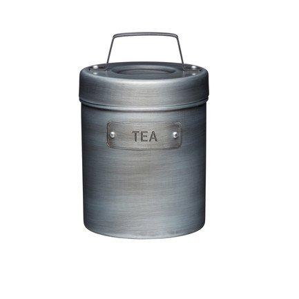 Фото - Емкость для хранения чая Industrial Kitchen, 10.5 смх17 см, серая INDTEA Kitchen Craft емкость для хранения чая living nostalgia 11х11х17 см зеленая lnteagrn kitchen craft