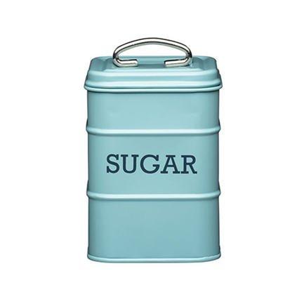 Емкость для хранения сахара, 11х11х17 см, голубая