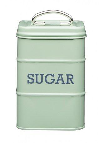 Фото - Емкость для хранения сахара, 11х11х17 см, зеленая LNSUGARGRN Kitchen Craft емкость для хранения чая living nostalgia 11х11х17 см зеленая lnteagrn kitchen craft