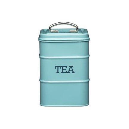 Емкость для хранения чая Living Nostalgia, 11х11х17 см, голубая