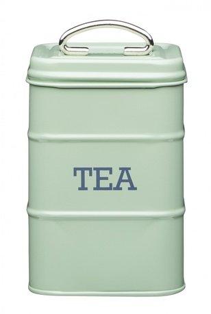 Емкость для хранения чая Living Nostalgia, 11х11х17 см, зеленая LNTEAGRN Kitchen Craft емкость для хранения чая living 1 л зеленая 1400 965v typhoon