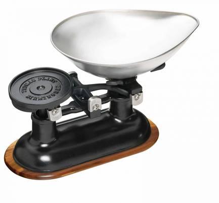 Весы кухонные механические KitchenCraft Natural Elements, 34х24 см, черные