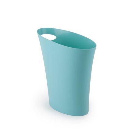 Контейнер мусорный Skinny (7.5 л), 33х34х17 см, морская волна