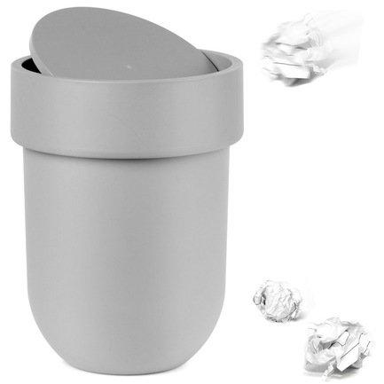 Контейнер мусорный Touch, 19х25.4х19 см, с крышкой, серый 023269-918 Umbra контейнер мусорный umbra skinny 7 5 л белый металлик