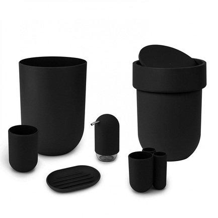 Контейнер мусорный Touch, 19х25.4х19 см, с крышкой, черный 023269-040 Umbra цена 2017