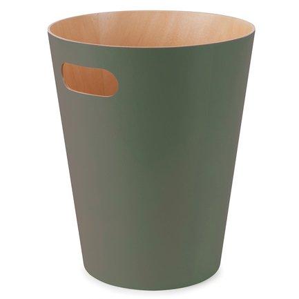Корзина для мусора Woodrow (9 л), 23х28.2х23 см, зеленая 082780-1095 Umbra