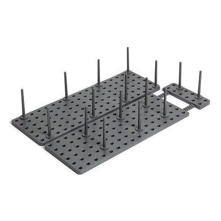 Органайзер для посуды и столовых приборов Peggy, 15х10х45 см, серый 1004318-149 Umbra