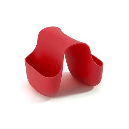 Органайзер для раковины Saddle, 14х11х11.5 см, красный