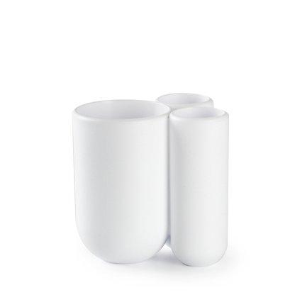 Стакан для зубных щеток Touch, 10х10х8 см, белый