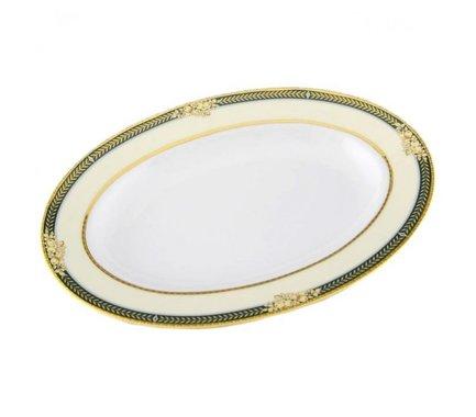 Блюдо для гарнира овальное Сабина Золотые фрукты, 22см 02111735-0711 Leander leander масленка круглая сабина сине золотая лента 0 25 кг 02122315 0767 leander
