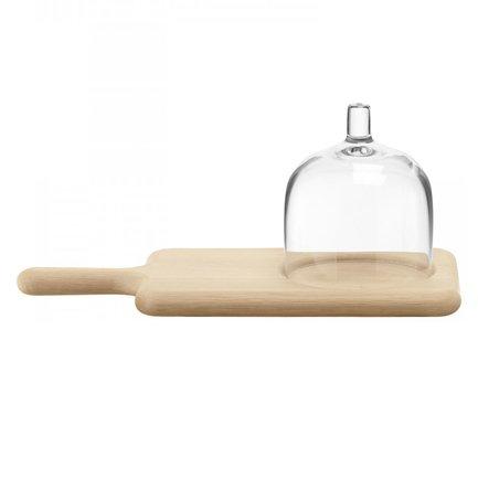 блюдо сервировочное со стеклянным куполом 35 5 см paddle Блюдо сервировочное Paddle со стеклянным куполом, 35.5 см G1163-35-301 LSA International
