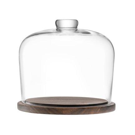 блюдо сервировочное со стеклянным куполом 35 5 см paddle Блюдо со стеклянным куполом City, 22х20 см G1240-22-301 LSA International