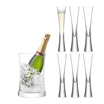 Набор для сервировки шампанского Moya, 7 пр., прозрачный G1372-00-985 LSA International