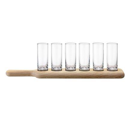 цена на Набор стопок на подставке Paddle (70 мл), 6 шт., прозрачные G1049-03-301 LSA International