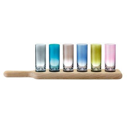 цена на Набор стопок на подставке Paddle (70 мл), 6 шт., цветные G1049-03-666 LSA International