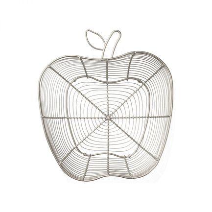 Корзина для фруктов Яблоко Tutti Frutti Satin Grey, 31x28x12 см, серебряная