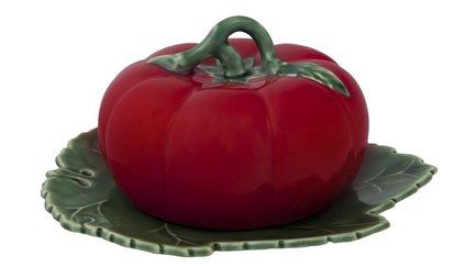 масленка с крышкой сrumpled 20 5х10х9 5 см керамика Масленка с крышкой Томат, 20x18х4.5 см BOR65007111 Bordallo Pinheiro