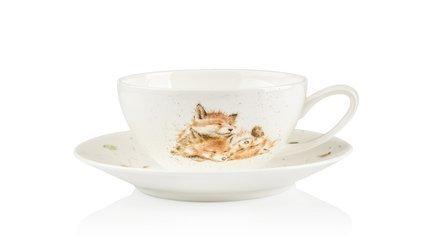 Чашка для капучино с блюдцем Лисички (300 мл)