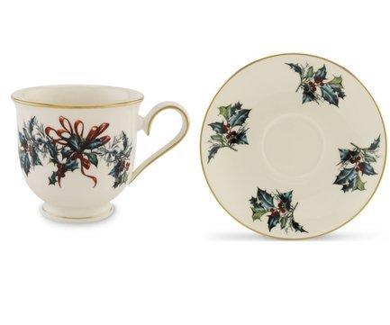 Чашка чайная Кардинал (180 мл), с блюдцем LEN185518032/185518042 Lenox