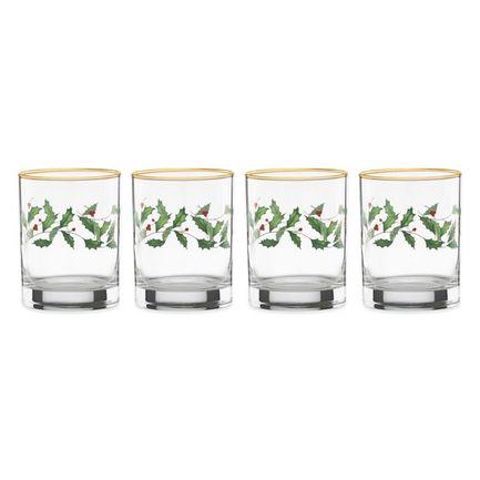 Набор бокалов для виски Новогодние праздники (300 мл), 4 шт LEN849604 Lenox набор бокалов для виски 2 шт sagaform набор бокалов для виски 2 шт