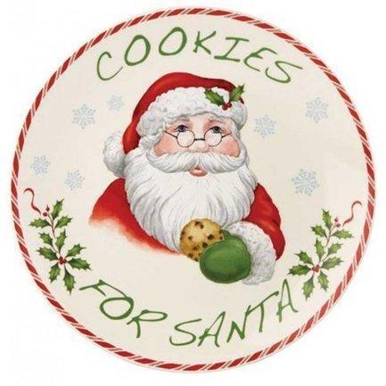 Тарелка Печенье для Деда Мороза, 23 см LEN840151 Lenox стихи деда мороза