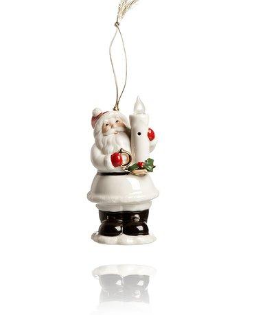 Украшение новогоднее Дед Мороз со свечой, 13 см, светящееся LEN867296 Lenox