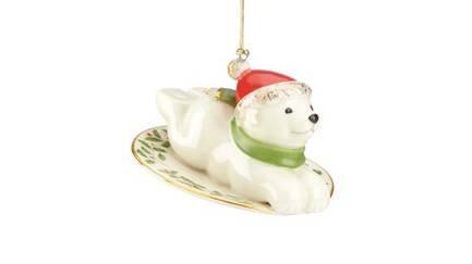 Украшение новогоднее Полярный мишка, 8 см