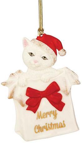 Украшение новогоднее Рождественский котенок, 9.5 см