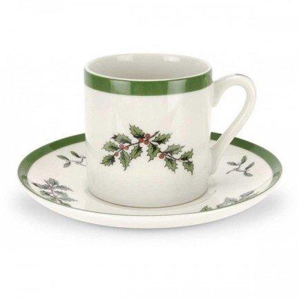 Чашка для эспрессо Рождественская ель (90 мл), с блюдцем SPD-XT1200-X-1 Spode remember чашка для эспрессо с блюдцем black stripes