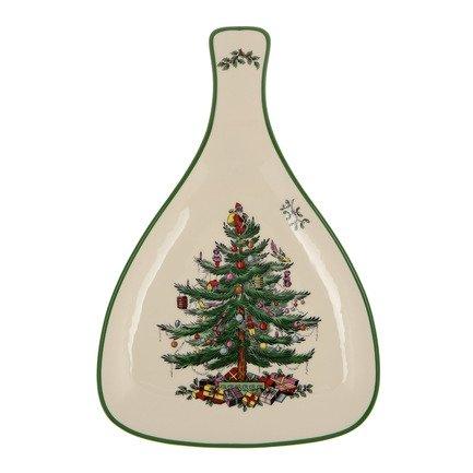 Блюдо с ручкой Рождественская ель, 32 см