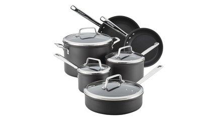 Набор посуды Асорити, 10 пр., черный ANL81016-T Anolon