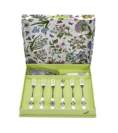 Набор из лопатки для торта и десертных вилок Ботанический сад, 7 пр. PRT-BG1105 Portmeirion