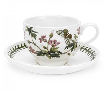 Чашка чайная с блюдцем Герань (280 мл) PRT-BG04557-30 Portmeirion