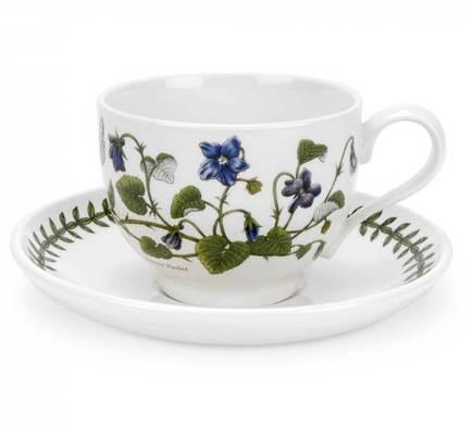 Чашка чайная с блюдцем Фиалка (280 мл) PRT-BG04557-31 Portmeirion