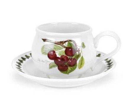 Чашка для завтрака с блюдцем Вишня (270 мл) PRT-PL04155-A Portmeirion