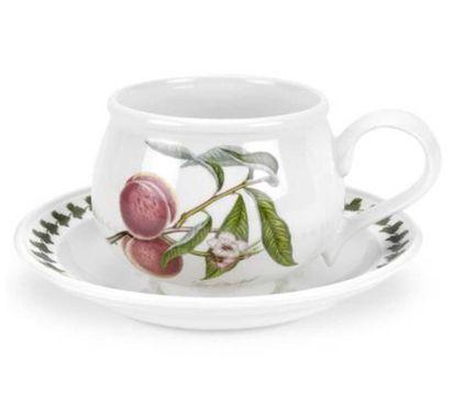 Чашка для завтрака с блюдцем Персик (270 мл) PRT-PL04155-F Portmeirion