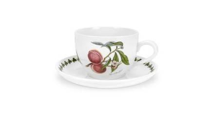 Чашка для завтрака с блюдцем Персик (500 мл) PRT-PL42000-F Portmeirion сок вимм билль данн агуша яблоко и персик с мякотью с 3 лет 500 мл