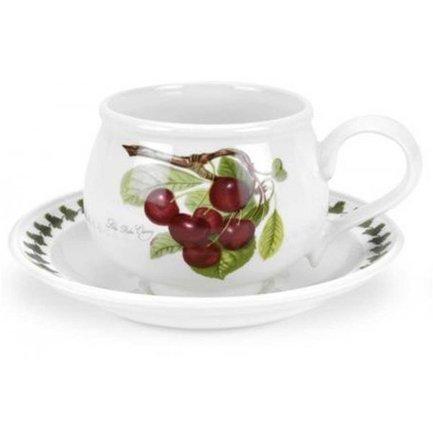 Чашка чайная с блюдцем Вишня (200 мл) PRT-PL04105-A Portmeirion
