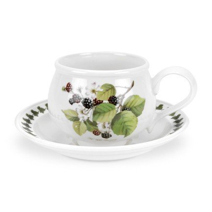 Чашка чайная с блюдцем Ежевика (200 мл) PRT-PL04105-D Portmeirion