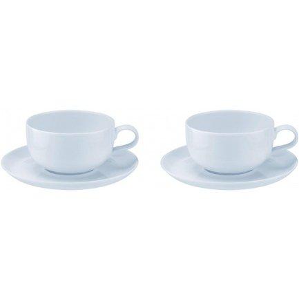 Набор чашек чайных с блюдцем Софи Конран для Портмерион (300 мл), белый, 4 шт. PRT-CPW76807-X Portmeirion кувшин софи конран для портмерион 0 8 л белый prt cpw76817 x portmeirion