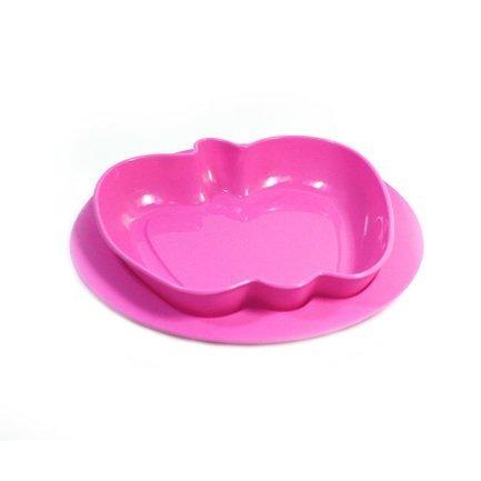 Миска Apple, 22х22х4 см, розовая