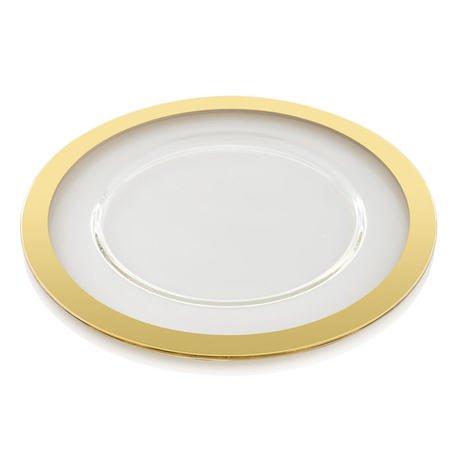 Тарелка Avenue Gold, 32 см, золотая 7610.33 IVV сандалии женские el tempo цвет золотой pac2 470 6425 gold размер 40